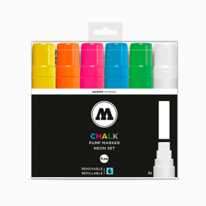 MARCADOR CHALK 15MM - BASIC SET 1 - ESTOJO 6 CORES NEON